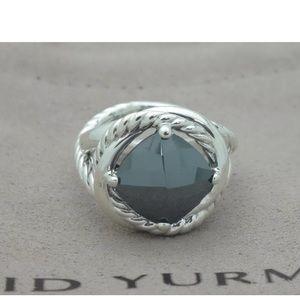 David Yurman infinity ring hermatite